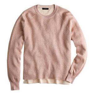 JCrew Metallic Rose Gold Sweater